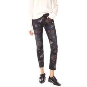 7 For All Mankind Floral Ankle Jeans